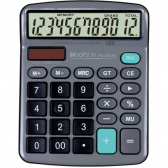 Calculadora 12Digitos Bat/solar Cinza - Mkp001257003352