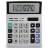 Calculadora de Mesa 08 Digitos Mod.Pc086 Bat/solar - Mkp001257020660