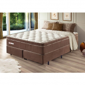 Cama Box Queen New Touch Com Molas Ensacadas Palemax - Mkp000800002560