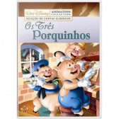 Disney Collection Os Três Porquinhos Dvd Filme Infantil - Mkp000315007807