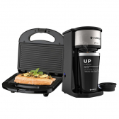 Kit Cafeteira Up To Go E Sanduicheira Minigrill Cadence 220V - Mkp000172001584